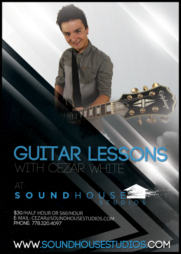 Guitar Lessons at Soundhouse Studios, Vancouver's Premier Rehearsal Studio