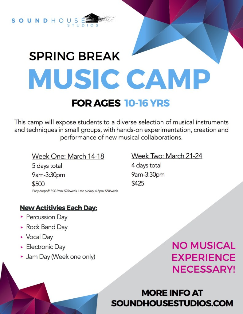 Vancouver spring break music camps 2015